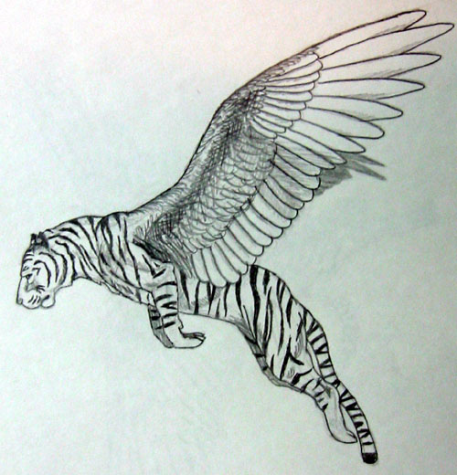 500x520 Winged Tiger