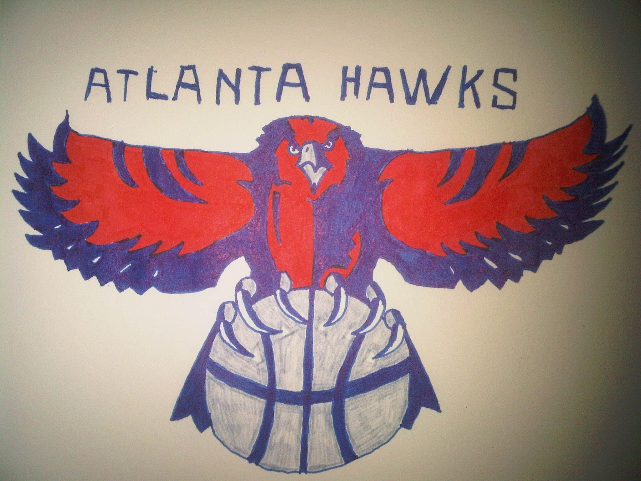 2048x1536 How To Draw The Atlanta Hawks Logo