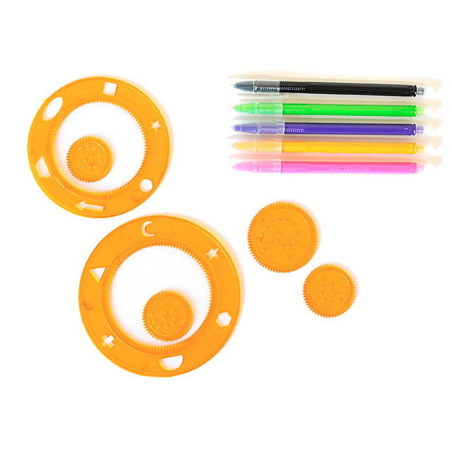 640x640 Spirograph Drawing Set