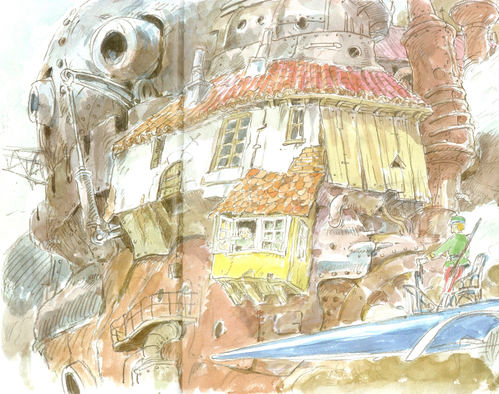 1652x1305 Image Result For Hayao Miyazaki Sketches Background Design