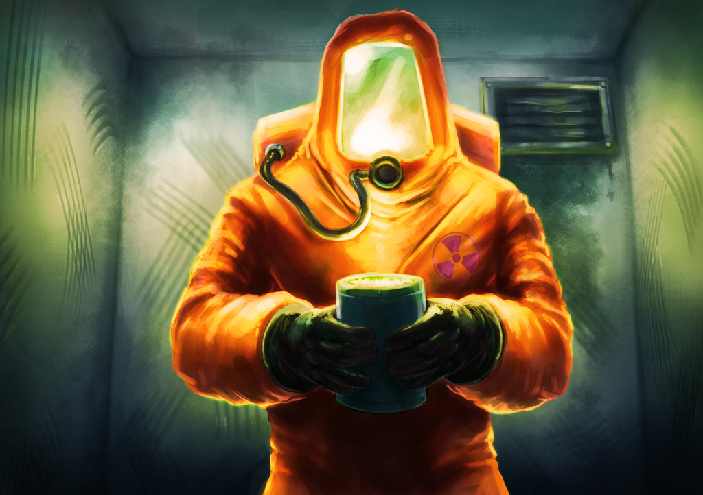 1024x722 Technician In Hazmat Suit By Cthulhusaurus Rex