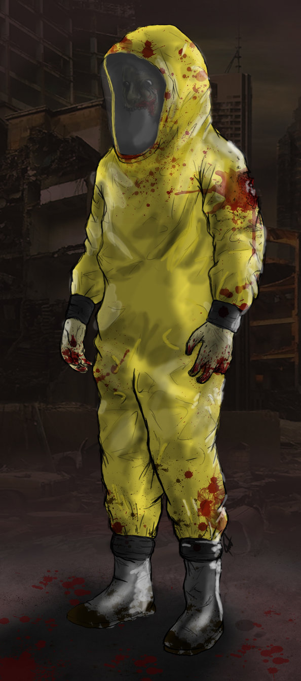 594x1343 Zombie In Hazmat Suit By Antonwe