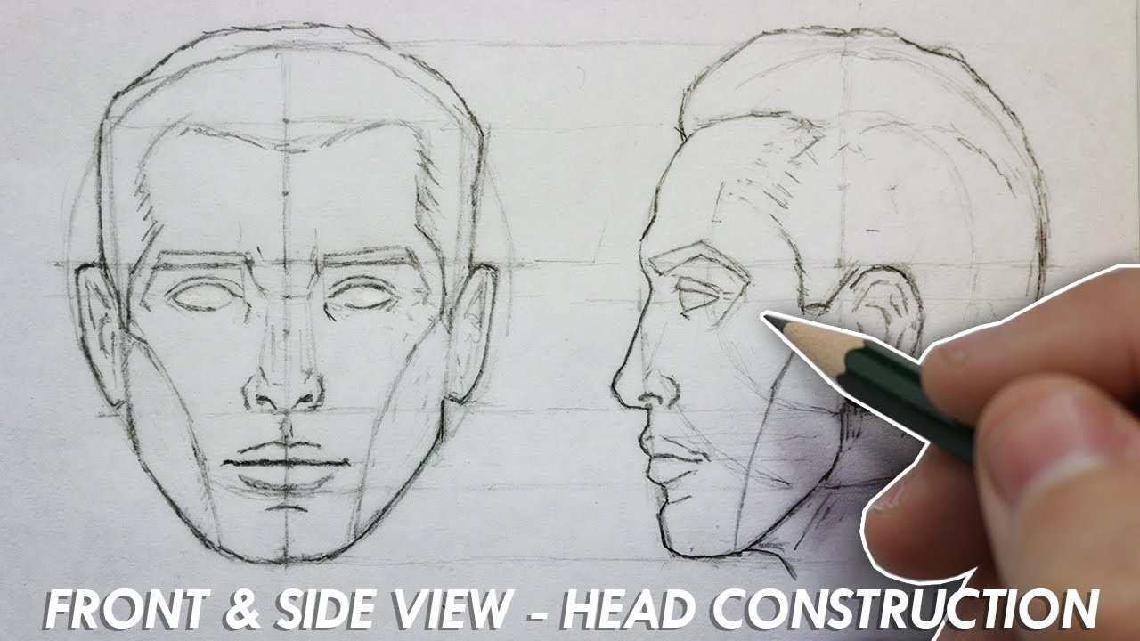 1280x720 The Basic Construction For Drawing The Head