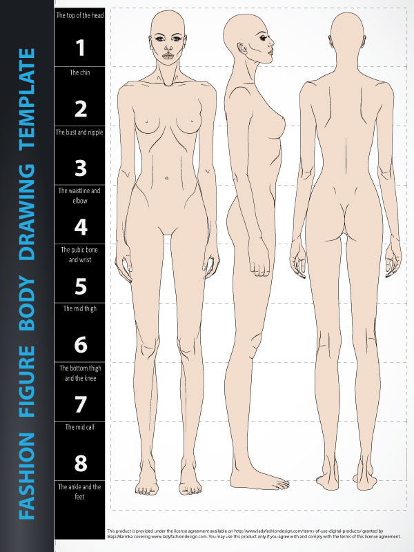 600x800 Fashion Figure Drawing Template