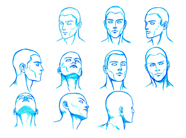 head positions drawing at getdrawings com free for personal use