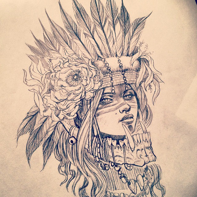 640x640 Going Through Some Old Drawings And Out Of All The Headdress Girls