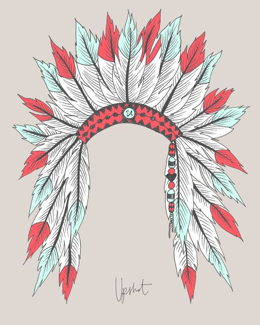 512x640 Indian Headdress Print Jaci Headdress, Tattoo