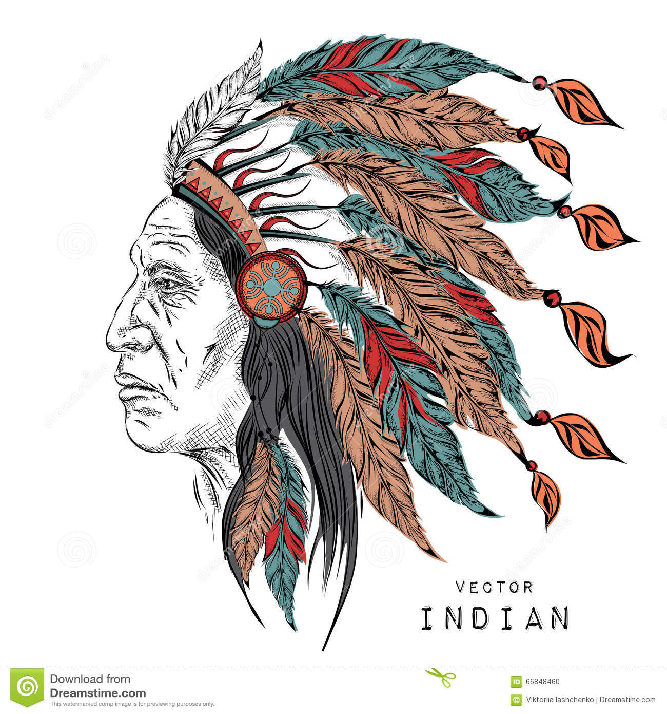 1300x1390 Native American Headdress Drawing Man In The Native American