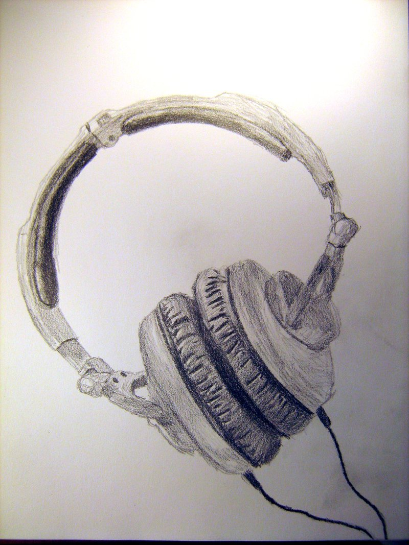 800x1067 Headphone Sketch 1 By Kproductions