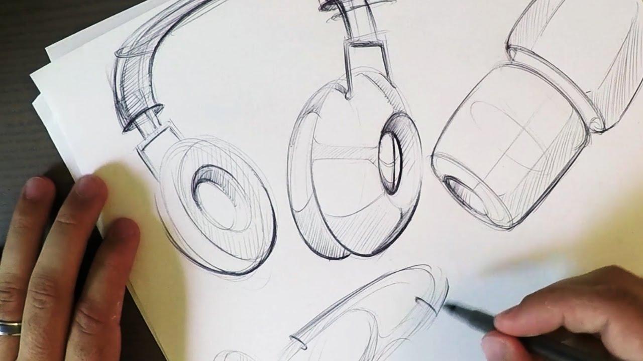 1280x720 Let's Sketch Headphones! (Start Big)