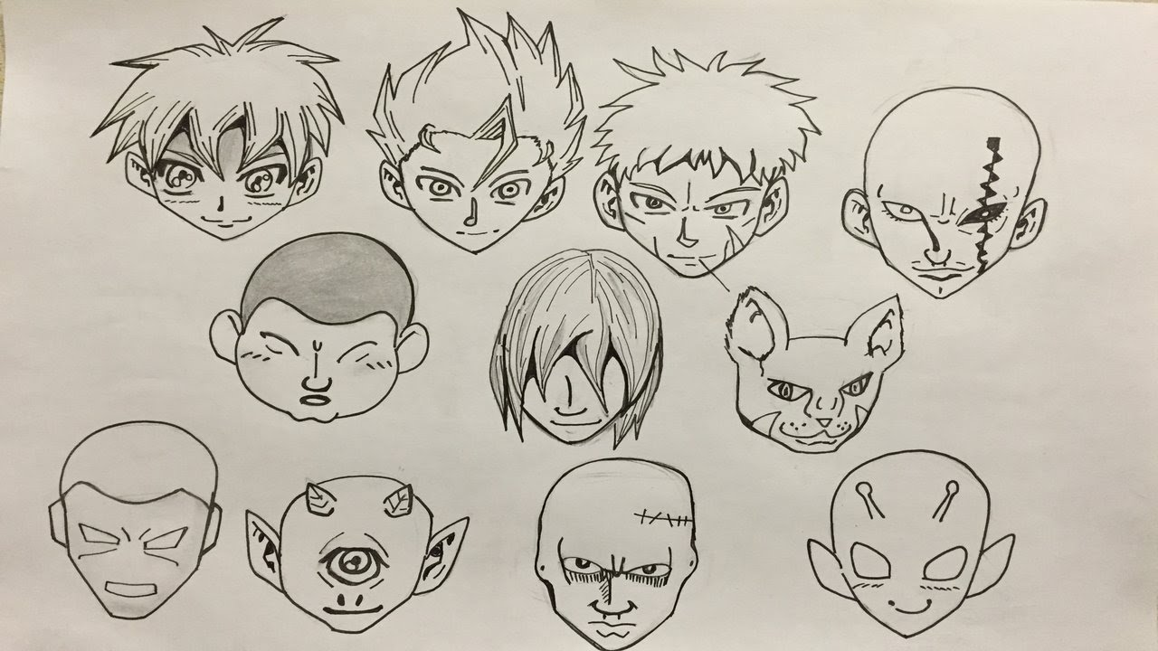 1280x720 How To Draw Manga Head Structures