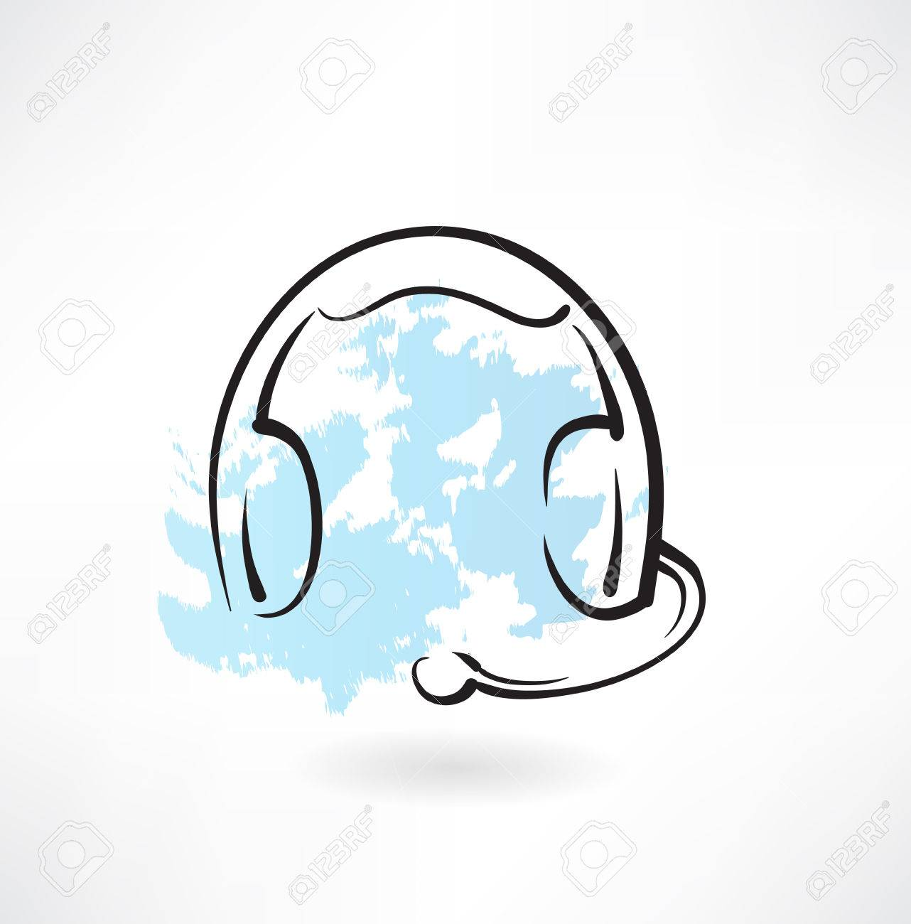 1282x1300 Headset With Microphone Grunge Icon Royalty Free Cliparts, Vectors