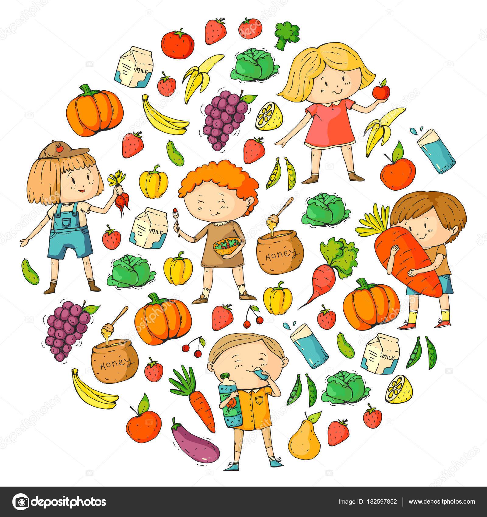 1600x1700 School And Kindergarten. Healthy Food And Drinks. Kids Cafe