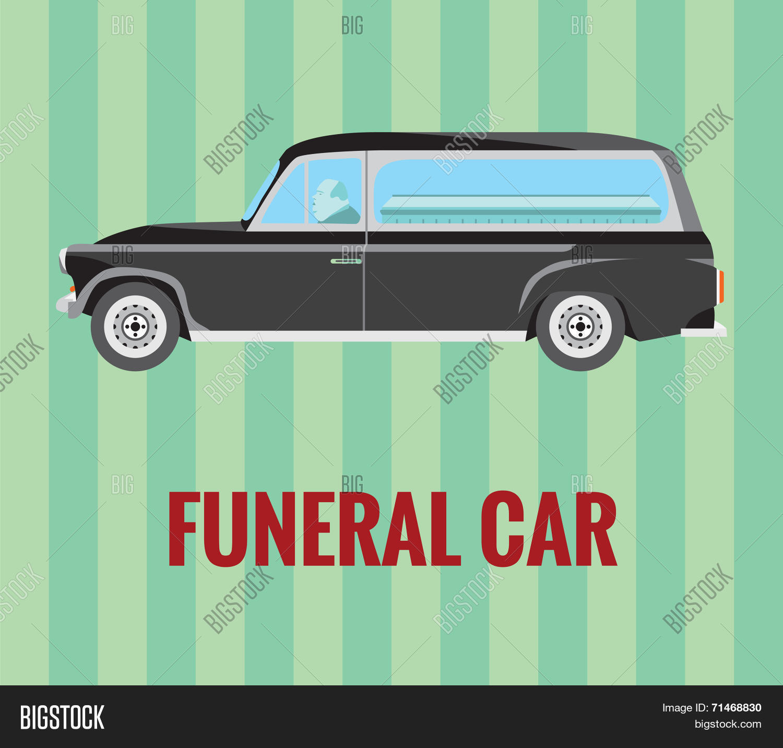 1500x1433 Funeral Car (Hearse) Driver Coffin Vector Amp Photo Bigstock