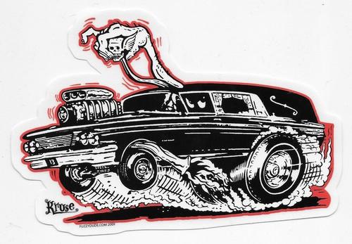 500x347 Kruse Hot Rod Hearse Sticker
