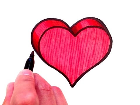 480x360 How To Draw A 3d Heart