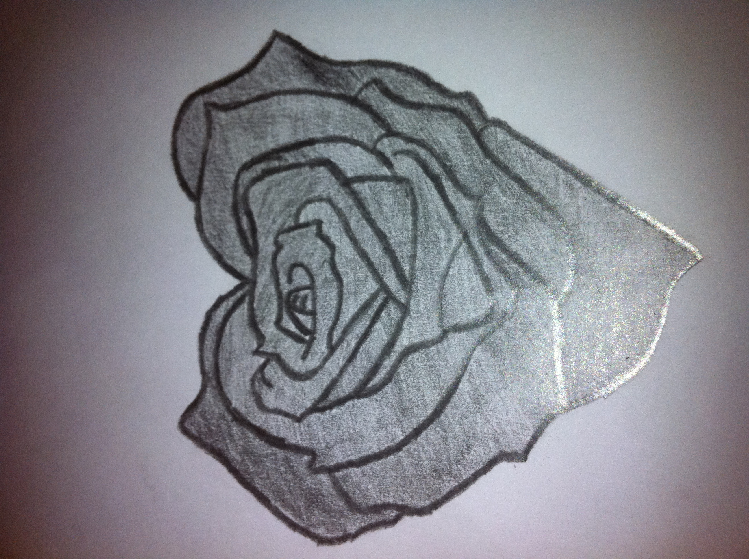 2592x1936 Pencil Drawings Of Hearts Love Heart Shaped Rose Drawing