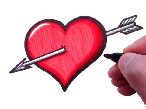 480x360 How To Draw A Heart With An Arrow