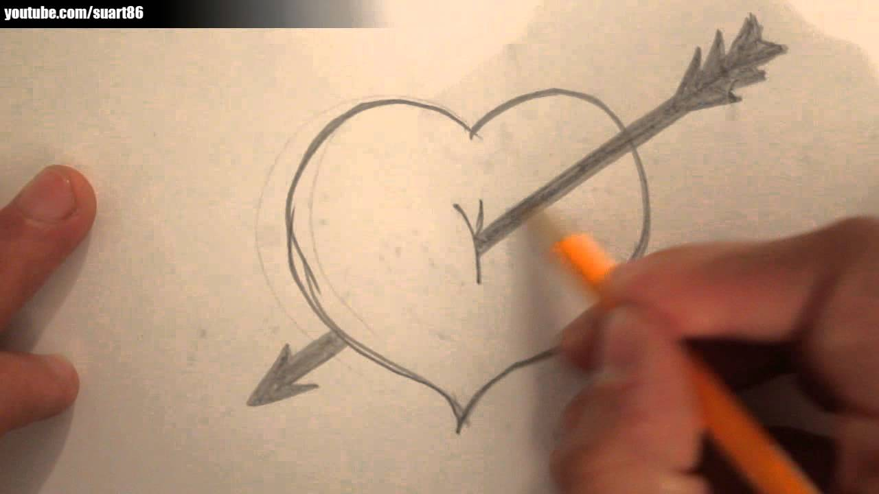 1280x720 How To Draw A Heart With A Arrow Through It