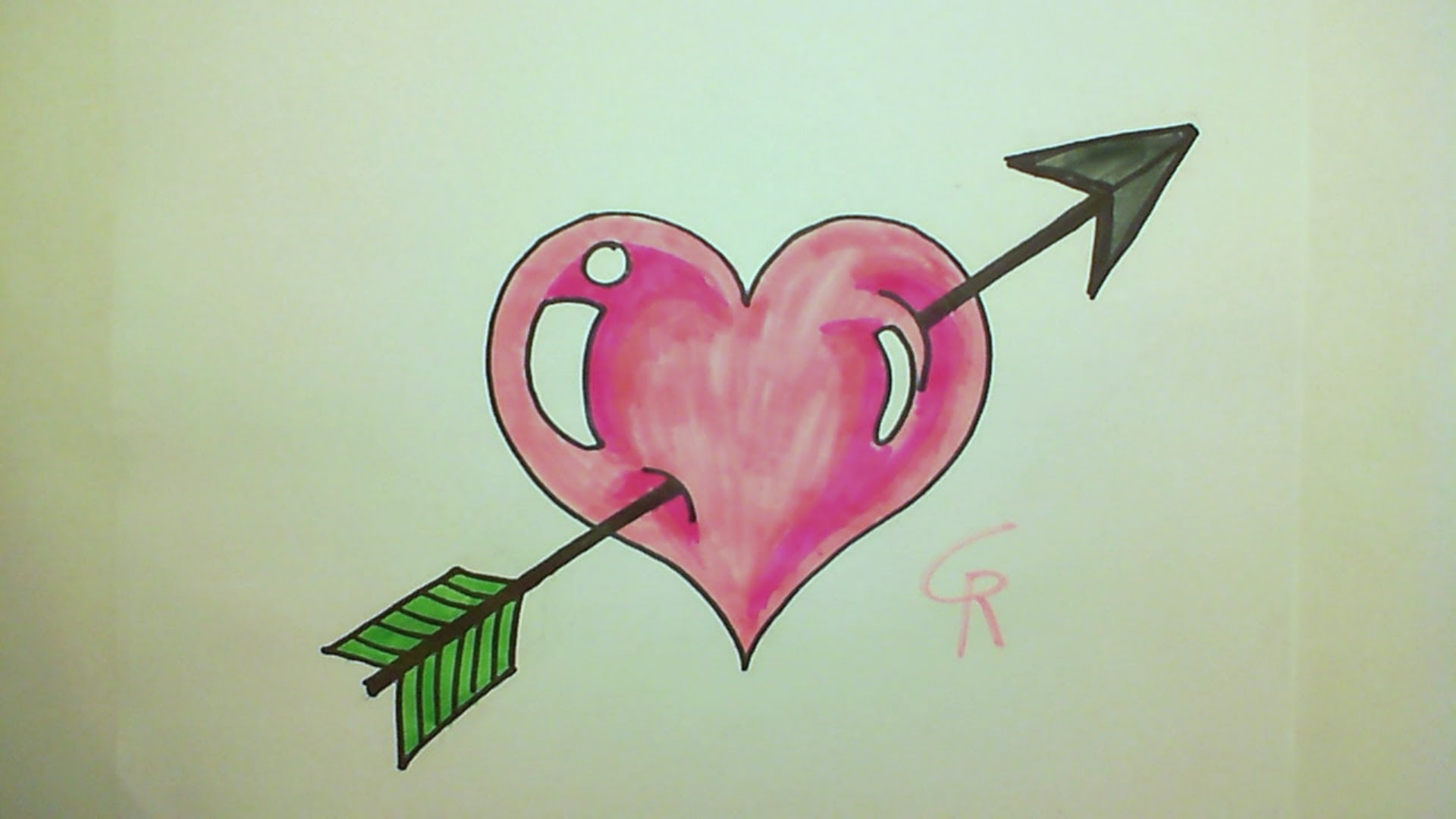 1920x1080 Learn How To Draw A Cute Heart With An Arrow