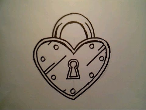 480x360 How To Draw A Heart Lock Padlock Locket London Bridge Locks