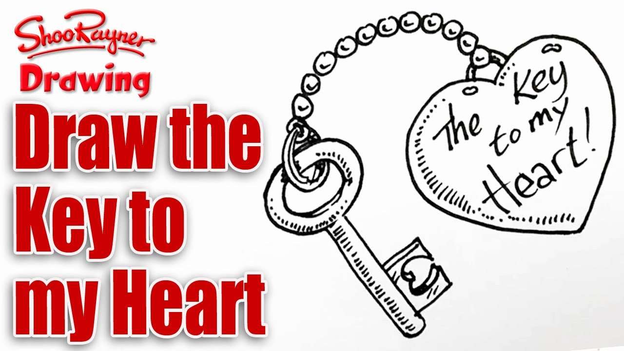 1280x720 How To Draw The Key To Your Heart For Valentine's Day
