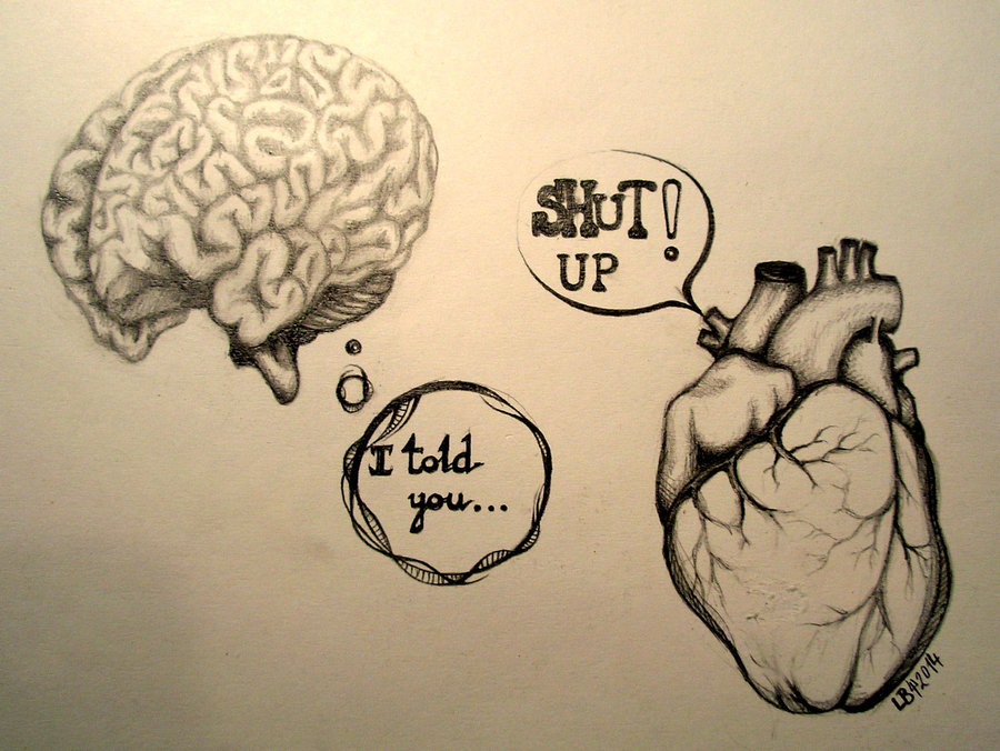 900x676 Heart Vs Brain By Zurivapanda