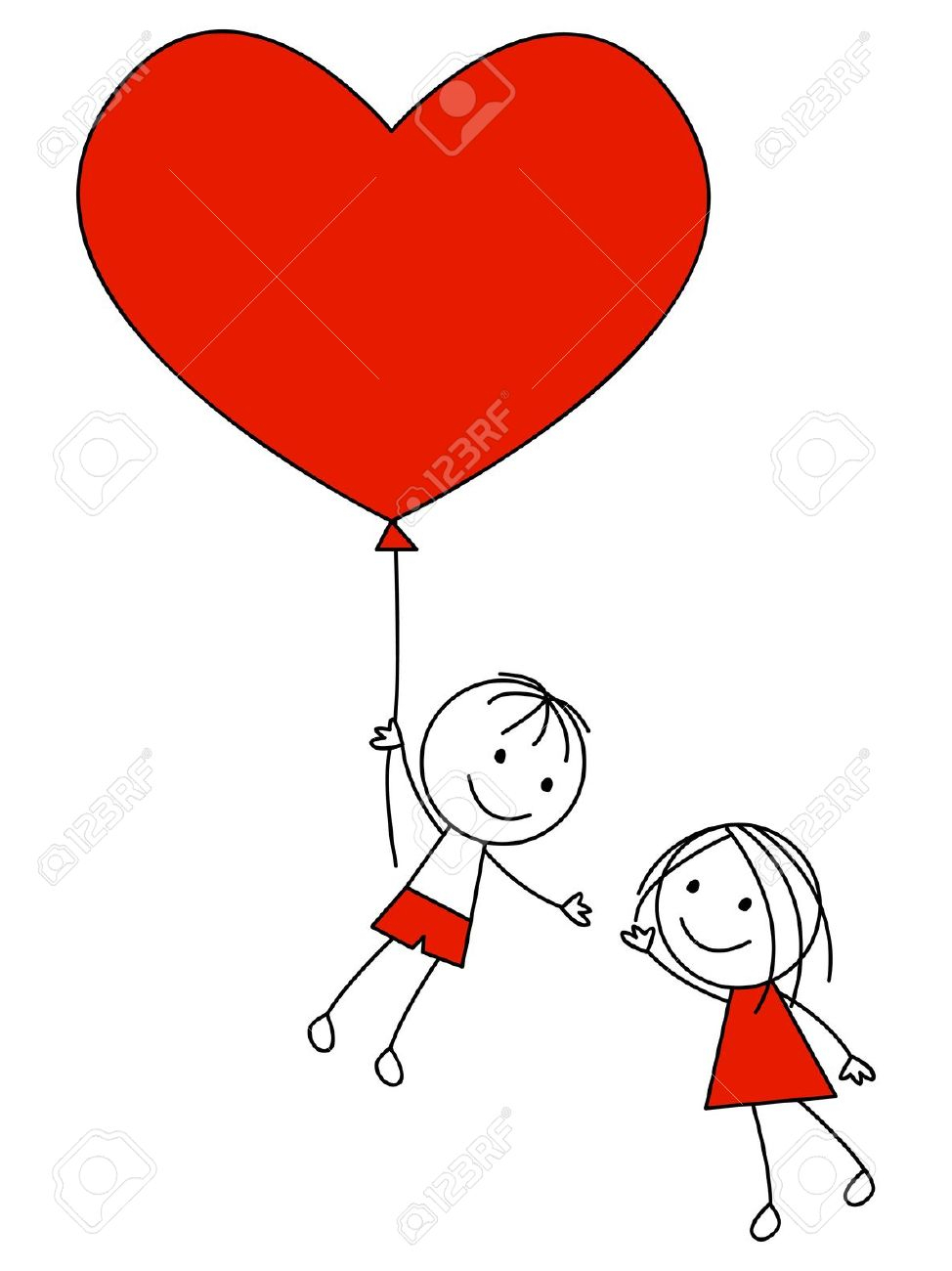 974x1300 Cutest Couple Cartoon Drawing Cute Couple With Heart Balloon
