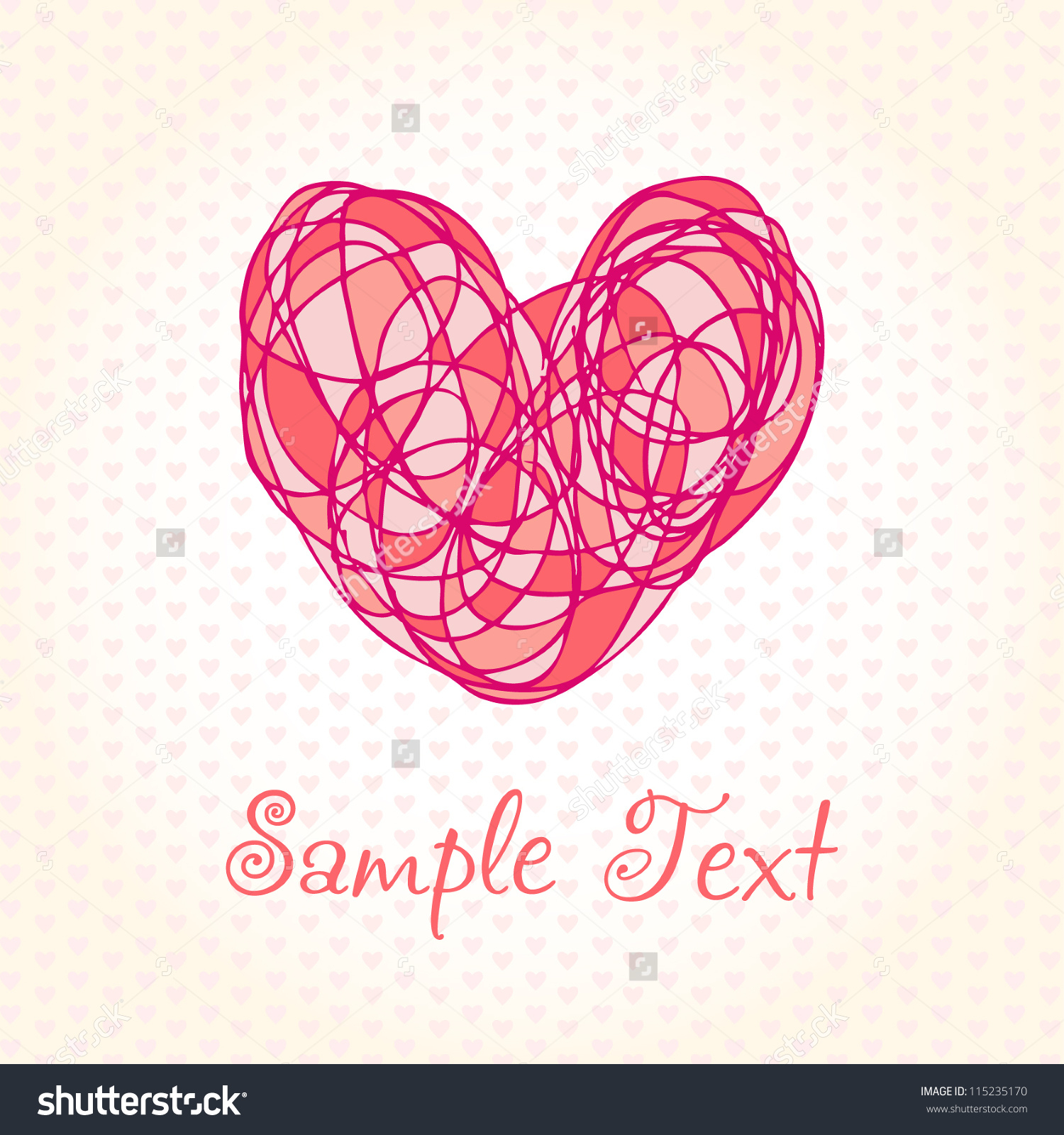 1500x1600 Cute Heart Designs Drawing Romantic Hand Drawn Background Colorful