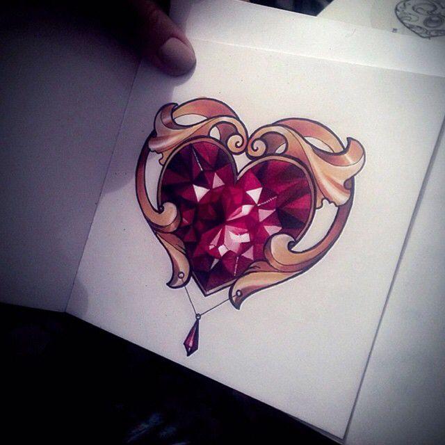 640x640 Diamond Heart