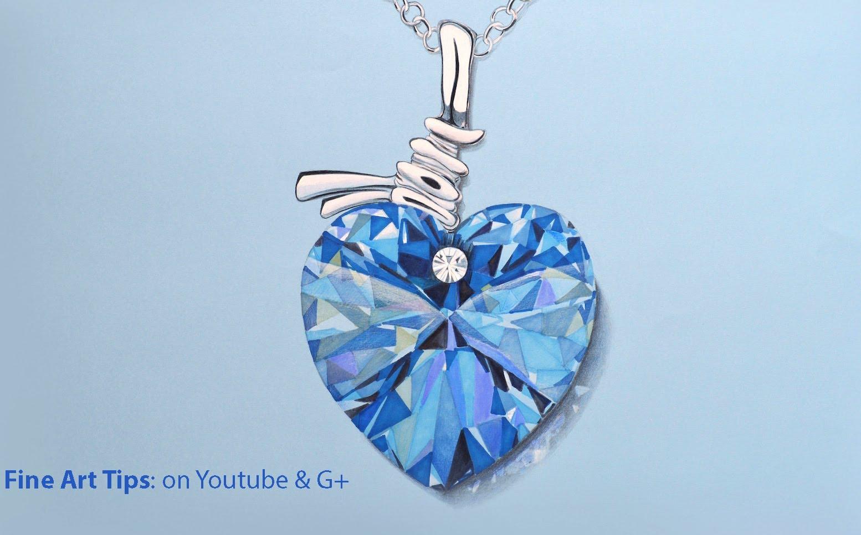 1554x967 How To Draw A Swarovski Crystal Heart