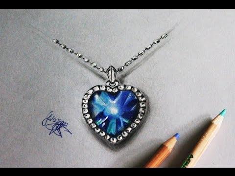 480x360 How To Draw A Diamond Heart Come Disegnare Un Diamante A Cuore