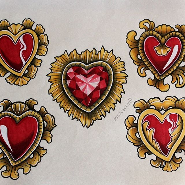 640x640 Some Awesome Heart Designs Created By @saracervelli With Their