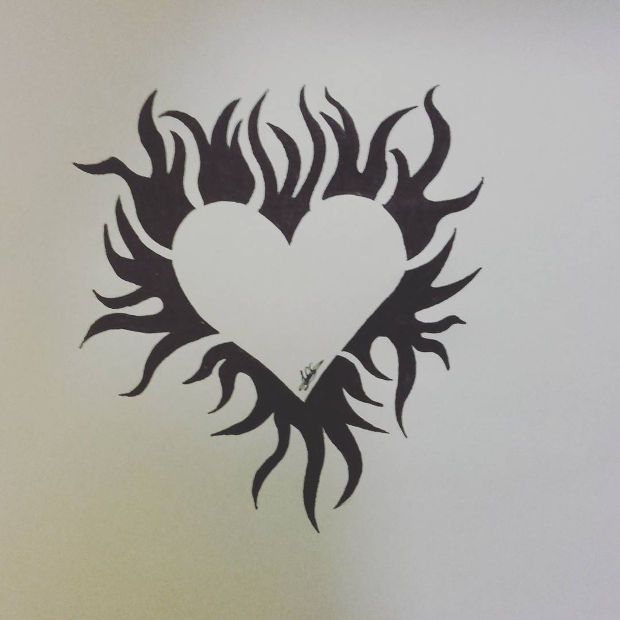620x620 Heart Drawings, Art Ideas Design Trends