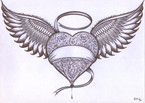 500x358 Heart With Wings By Renzoehernandez