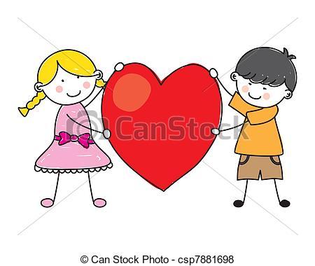 450x380 Children Holding A Heart Vector