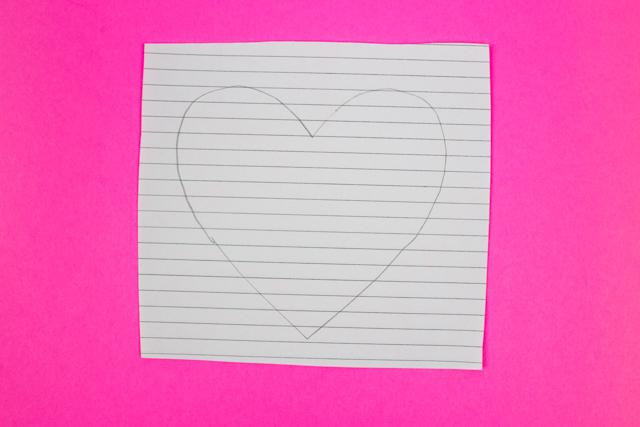 640x427 3d Optical Illusion Heart Drawing Craft Pink Stripey Socks