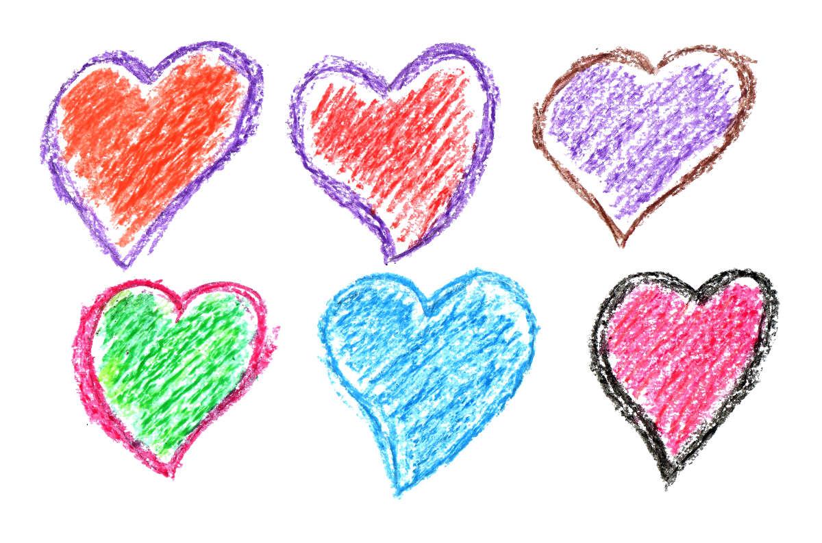 1200x793 6 Crayon Heart Drawing (Png Transparent)
