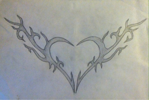Pencil Drawing Love Heart