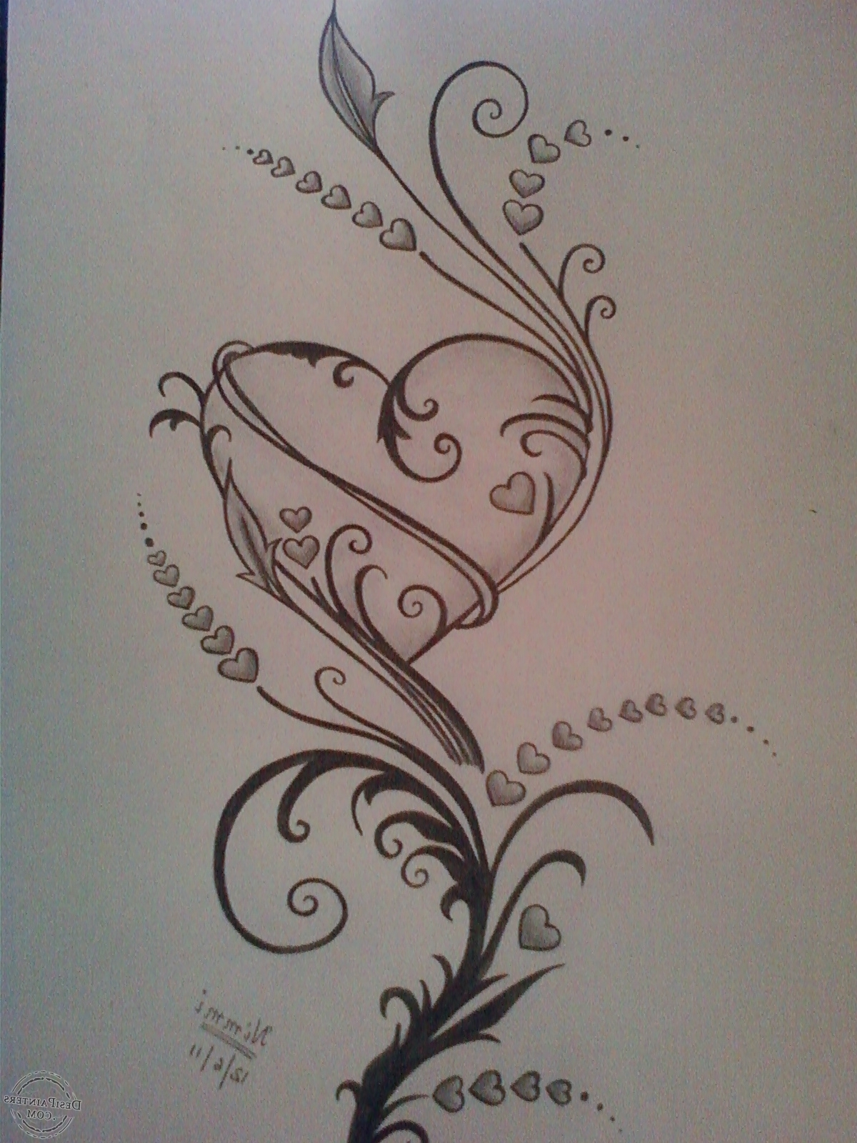 1200x1600 Pencil Drawings Of Love Hearts Drawings Of Roses And Hearts Hearts