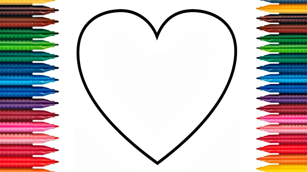 1280x720 Colours For Kids Love Hearts Coloring Pages How To Color Hearts