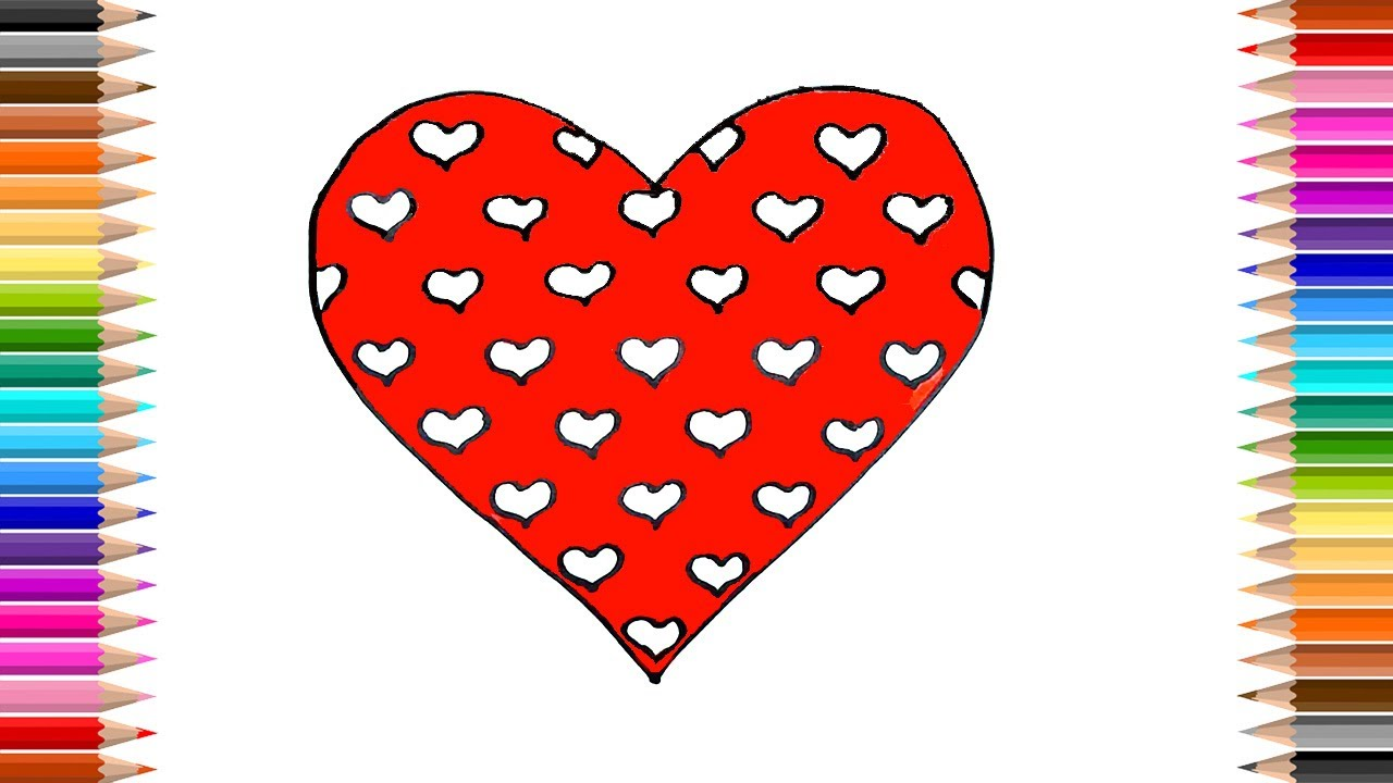 1280x720 How To Draw Heart Love Heart Coloring Pages Kids Songs