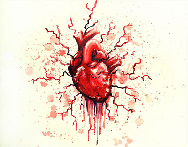 600x469 Heart Drawings,free Psd, Vector Ai, Eps Format Download Free