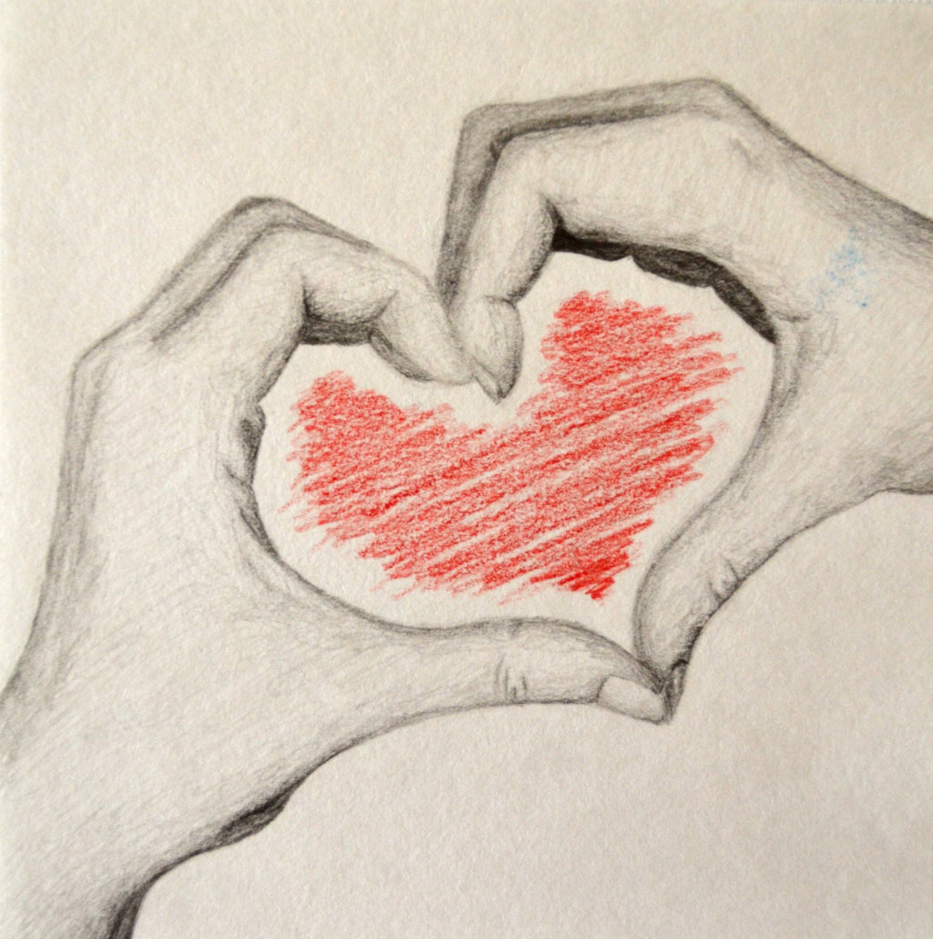 1024x1030 Pencil Drawing Of Hand Holding Heart