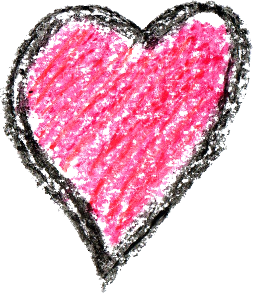 509x590 6 Crayon Heart Drawing (Png Transparent)