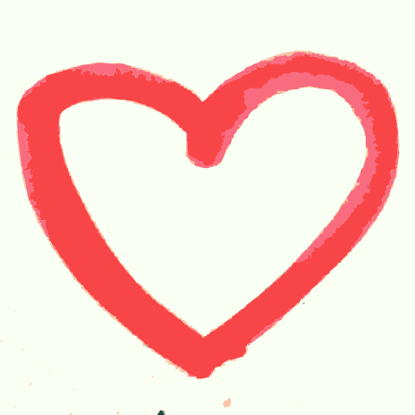 600x600 A Hand Drawn Heart Clip Art