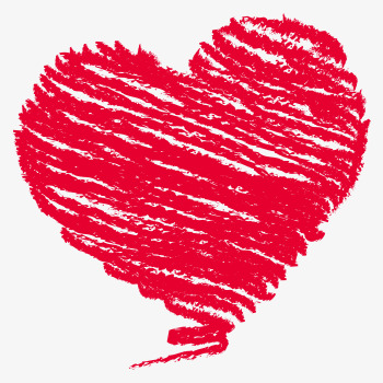350x350 Heart Shaped Chalk Drawing, Red, Love, Romantic Png Image