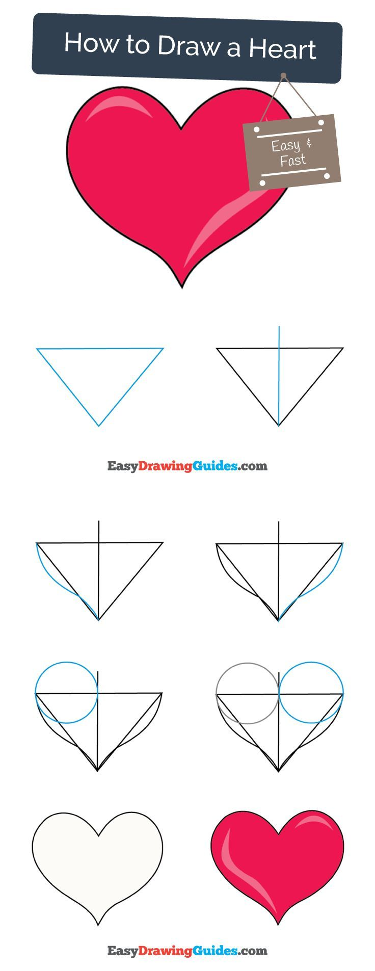 736x1905 How To Draw A Heart Easy And Simple Guide Drawings, Doodle