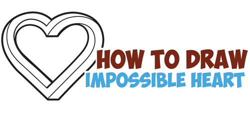 500x229 How To Draw An Impossible Heart