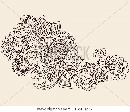 450x388 Drawn Mehndi Heart